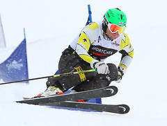 Brady Leman training for the Sport Chek Ski Cross Canadian Championships.