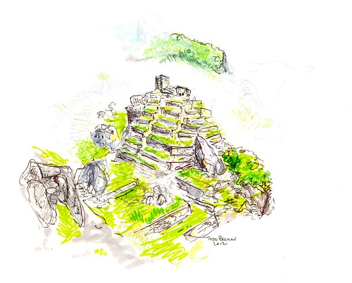 Sketch at Machu Picchu by Todd Berman
