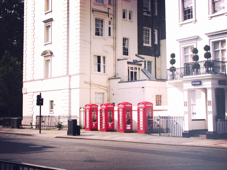 london, phone booths