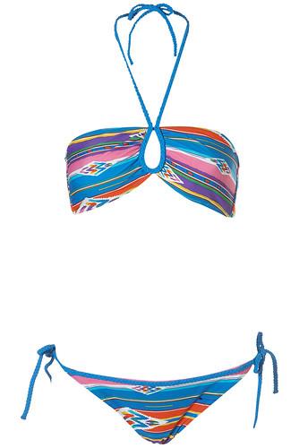 Multi Stripe Bandeau Bikini