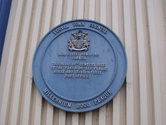 Photo of Fleur-de-Lis, Yeovil and Post Office, Yeovil blue plaque