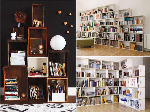 Makeshift Bookshelf. Pin It