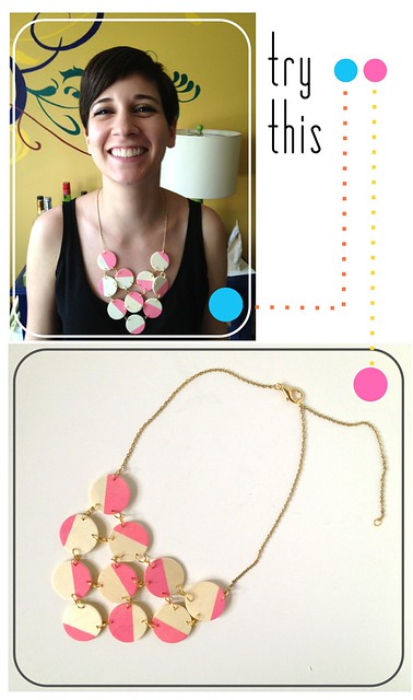 Try This - Wood Disc Bib Necklace
