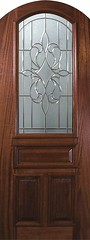 New Orleans Decorative Glass Arch Top Arch Lite Mahogany Entry Door 3 0 x 8 0 P19142A-C