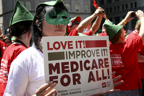 One big way to reduce poverty - expand Medicare to everyone, no cuts to Social Security or Medicare