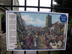 Photo of Gold Hill, Shaftesbury and Alfred the Great blue plaque