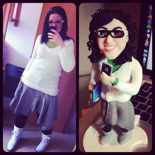 Aquí tenéis la foto original y la versión de @eigual Somos idénticas!!!! @frametastic #fimoyo #fimo #nh2igual