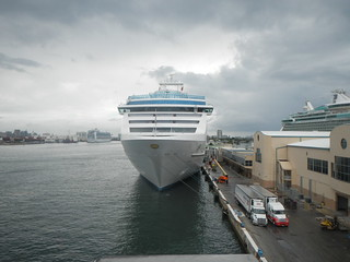 Coral Princess from Parking Garage