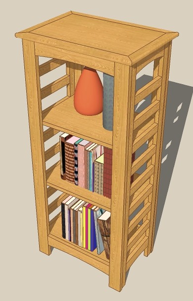 cookbook shelves ladder