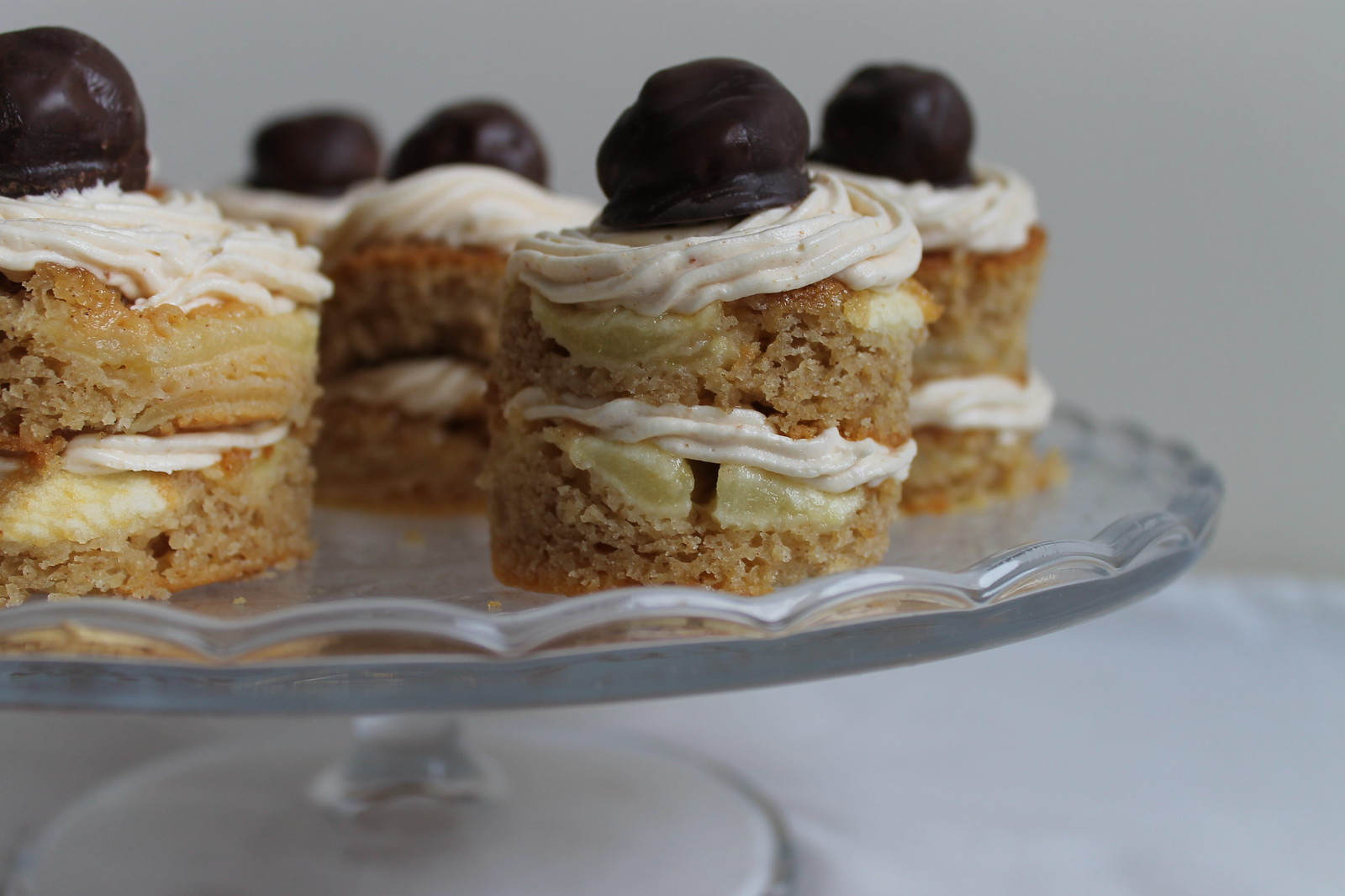 dutch apple cake with salted caramel buttercream