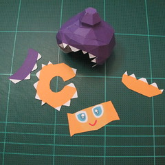 วิธีทำโมเดลกระดาษตุ้กตา คุกกี้รสราชินีสเก็ตลีลา จากเกมส์คุกกี้รัน (LINE Cookie Run Skating Queen Cookie Papercraft Model) 008