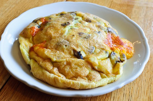 Mushroom and Cheddar Omelette