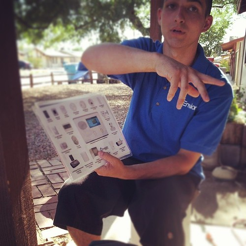 This summer I'll be featuring stories & photos of door-to-door sales people who visit me. This is Stephen he is 18 & doesn't think I have a security system. Nice kid #solicitorprofiles #acmelife #security #phoenix | by ACME-Nollmeyer