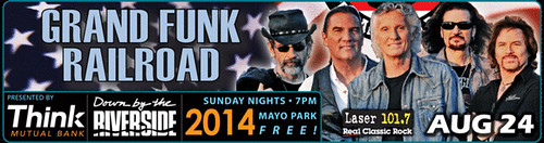 08/24/14 Grand Funk Railroad @ Mayo Park, Rochester, MN