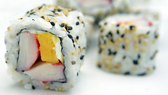 California Rolls of Surimi Mango and Cheese