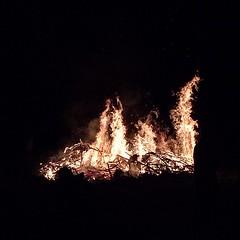 365/173 • solstice bonfire • #2014_ig_173 #hastings #morningtonpeninsula #winter #bonfire