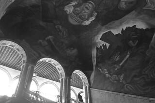 Guadalajara - Palacio del Gobierno Orozco Hildalgo Mural stairs