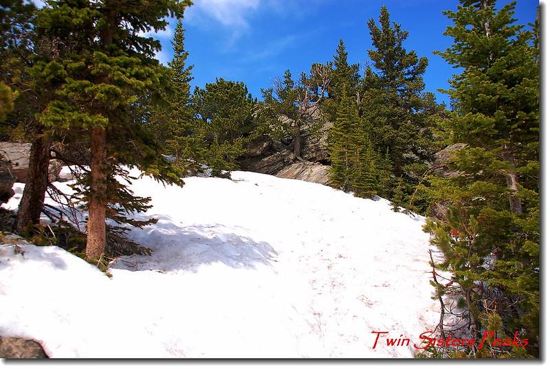 積雪未融的Twin Sisters Peaks 登山步道 1