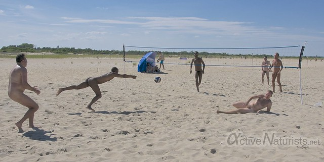 naturist volleyball 0006 Sandy Hook, NJ, USA