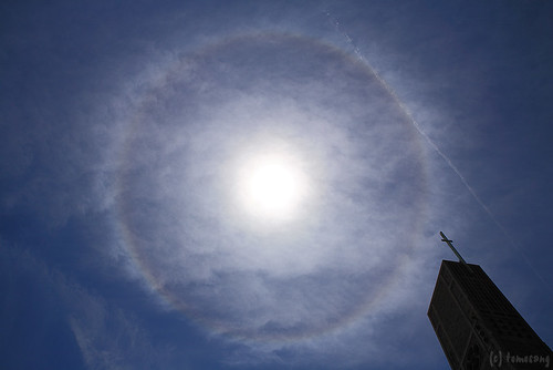 Halo over the cathedral
