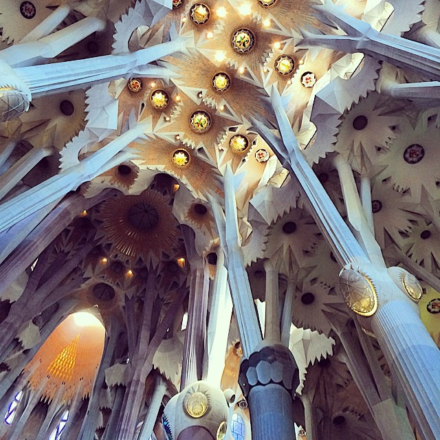 The inside of La Sagrada Familia is so much nicer than the outside!