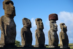 Easter Island's well known statues