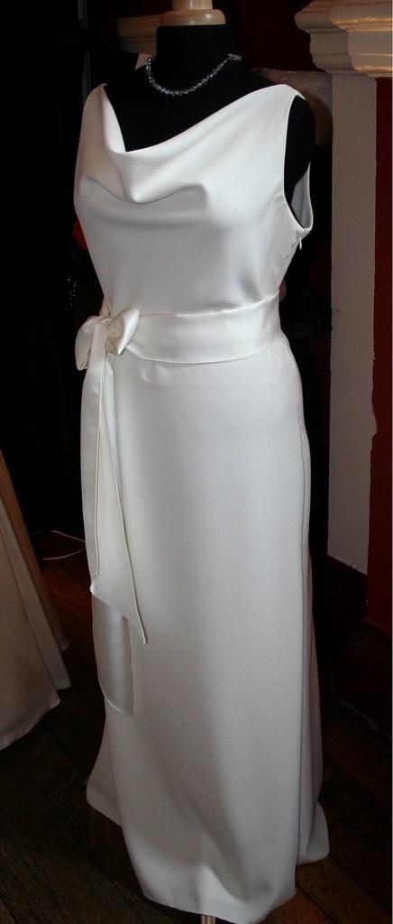Art Deco Wedding Dress in Crepe