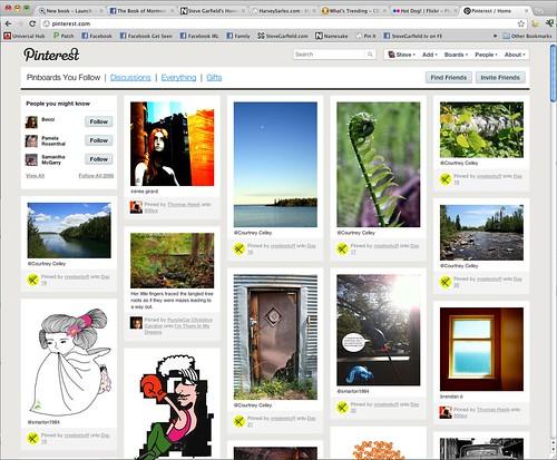 An example Pinterest screen.