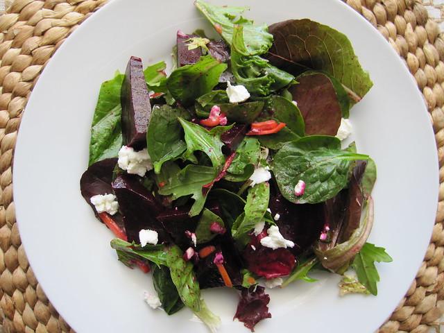 Roasted-Beet Salad with Sherry Vinaigrette