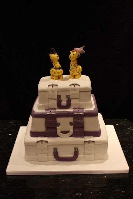 Suitcase Wedding Cake With Giraffe Topper Flickr Photo Sharing