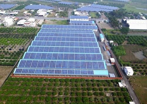太陽能發電。圖為天賜良園社區(照片來源:台南市經發局)