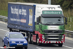 Volvo FH 6x2 Tractor with Tesco 3 Axle Curtainside Trailer - PX11 BYR - H4675 - Harriet Freya - Eddie Stobart - M1 J10 Luton - Steven Gray - IMG_4520