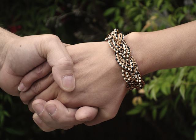 Sailor's knot bracelet lucet turk's head bracelet