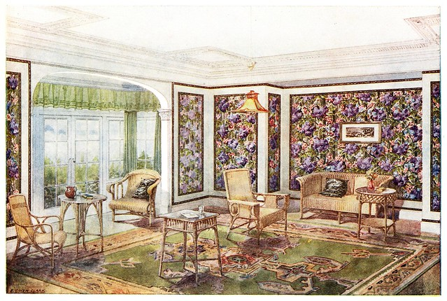 1900s wallpaper room design