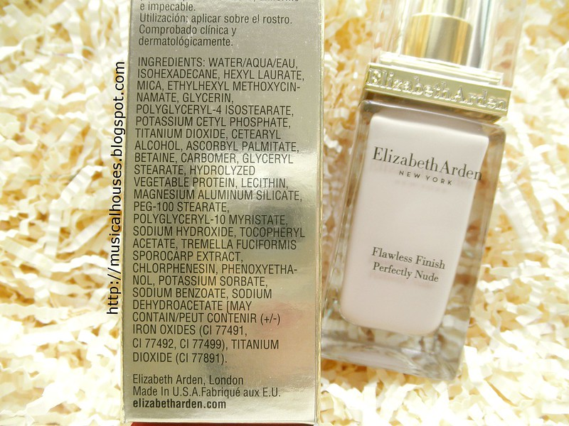 Elizabeth Arden Flawless Finish Perfectly Nude Makeup Foundation Ingredients