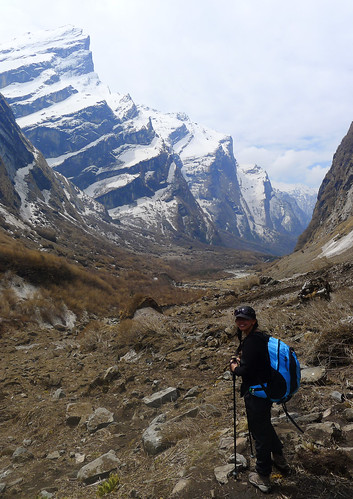 on the way down from Annapurna Base Camp