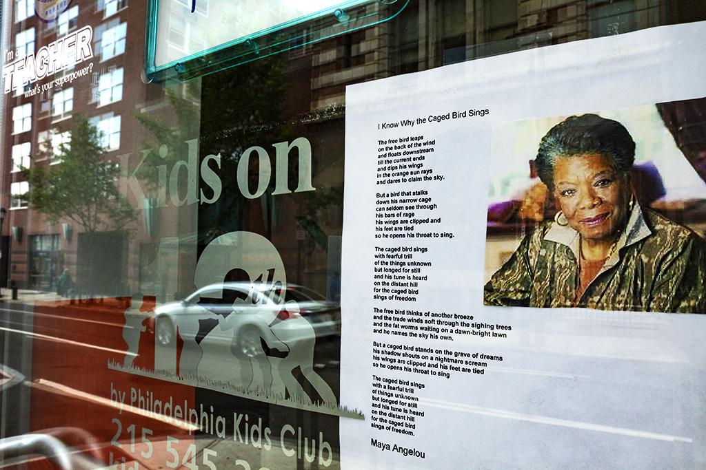 Maya-Angelou-on-door-of-Kids-on-12th--Center-City