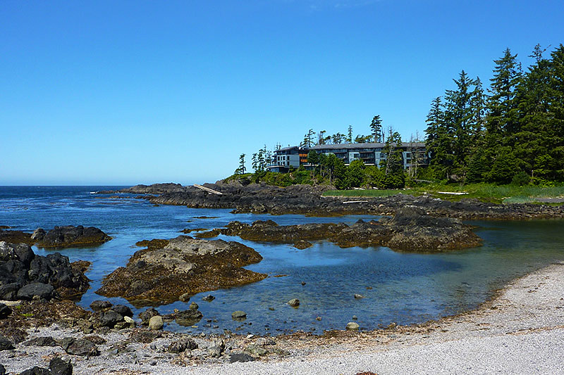 Black Rock Oceanfront Resort  overlooking Big Beach in Ucluelet, Vancouver Island, British Columbia