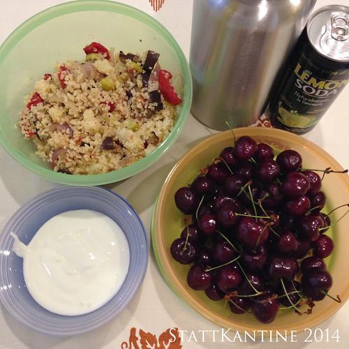StattKantine 03.07.14 - Couscous, Backofengemüse, Vignola-Kirschen
