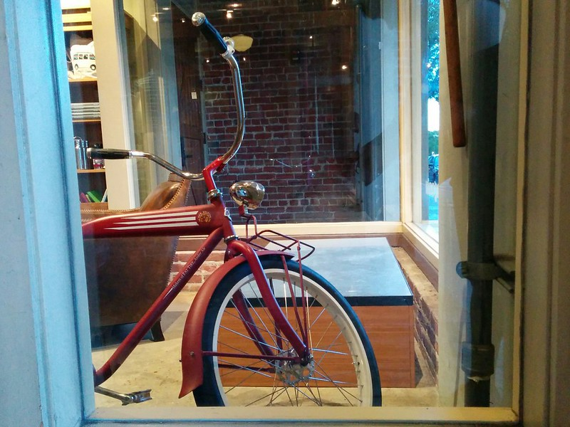 red bike indoor.
