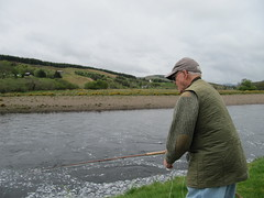 Dr Pierce has returned to the Oykel in his nintieth year, just for a visit more than to catch fish.