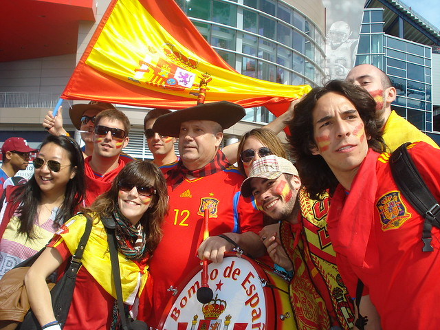 Spanish superstitions, flag and fans