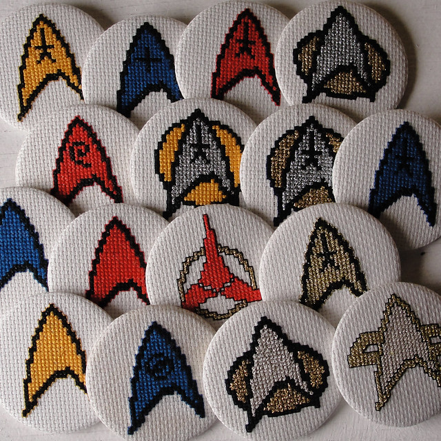 all star trek badges