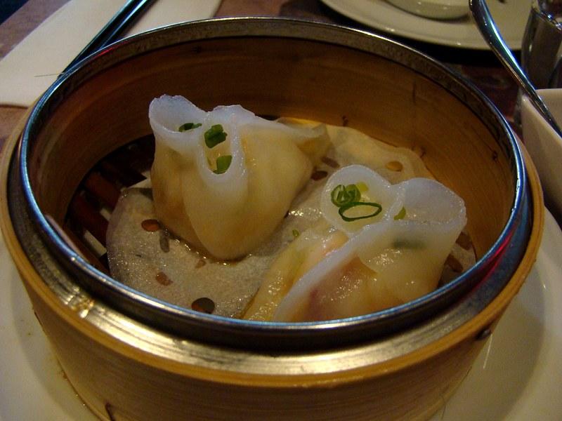 Luckee lobster and asparagus dumplings