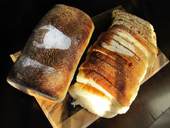 breakfast, baking, bread, baked goods, ciabatta, food, cuisine, sliced bread,