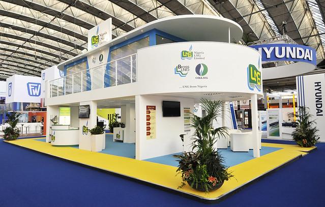 Exhibition Stand Double Decker : Nigeria lng double deck stand exhibition
