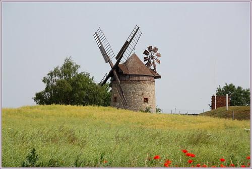 Tower mill near Endorf (Saxony-Anhalt)