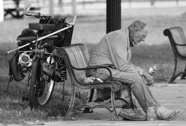 homeless grayscale