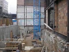 reinforced concrete, wall, urban area, iron, facade, construction,