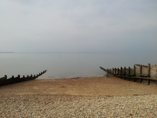 between the groynes